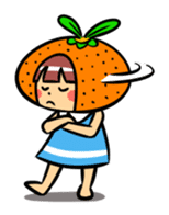 Orange Mi-chan sticker #135402