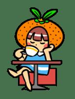 Orange Mi-chan sticker #135411