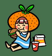 Orange Mi-chan sticker #135412