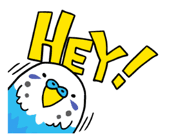 Coby and Jolly budgies sticker #135631