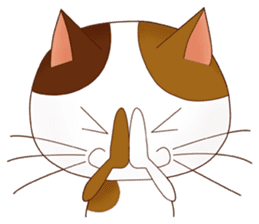 It is a pretty stamp calico cat and girl sticker #136435