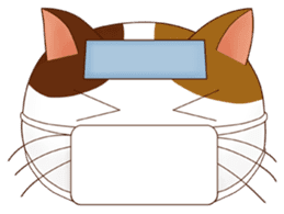 It is a pretty stamp calico cat and girl sticker #136459