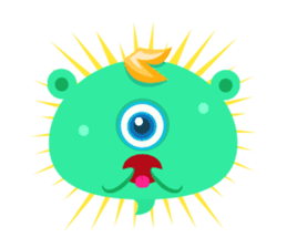 Colorful Monsters Mogu sticker #136637