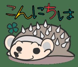ohuton Hedgehog sticker #137901
