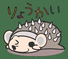 ohuton Hedgehog sticker #137909