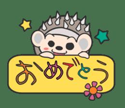 ohuton Hedgehog sticker #137922