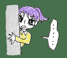 girly graffiti sticker #139016