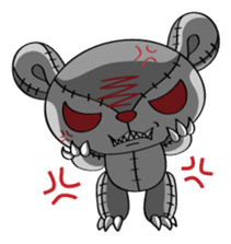 Zetsu - Little devil teddy bear sticker #139365