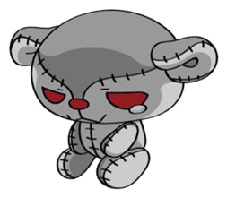 Zetsu - Little devil teddy bear sticker #139369