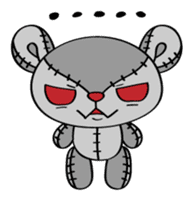 Zetsu - Little devil teddy bear sticker #139373
