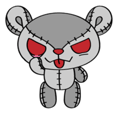 Zetsu - Little devil teddy bear sticker #139384