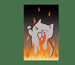 Grey Cat sticker #140495