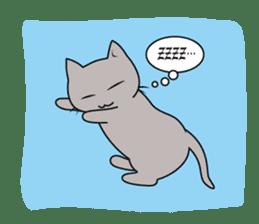 Grey Cat sticker #140512