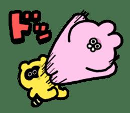 "Emotional appeal animals!""USAN & TANUN"" sticker #140674"