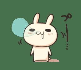 Shiro the rabbit sticker #141583