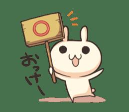 Shiro the rabbit sticker #141590