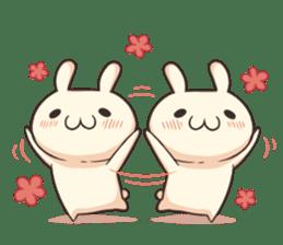 Shiro the rabbit sticker #141596