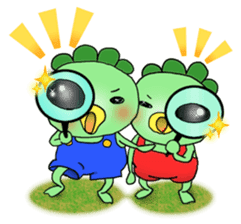 Twin Kappas TARO-JIRO sticker #141759