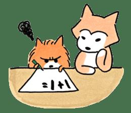Shiba Inu Gen-chan and his friends sticker #142385