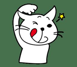 """free and big mouth cat """"IYANEKO"""" sticker #142594"""