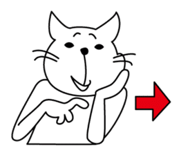 """free and big mouth cat """"IYANEKO"""" sticker #142605"""