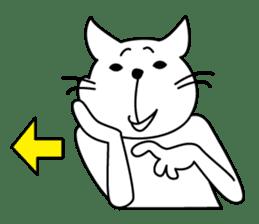 """free and big mouth cat """"IYANEKO"""" sticker #142606"""