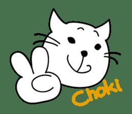 """free and big mouth cat """"IYANEKO"""" sticker #142608"""