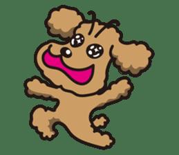 Dog Stamp vol.1 Poodle (Beige) sticker #142894