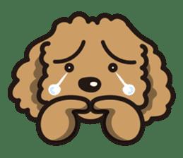 Dog Stamp vol.1 Poodle (Beige) sticker #142895