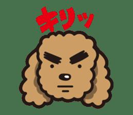Dog Stamp vol.1 Poodle (Beige) sticker #142901