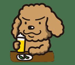 Dog Stamp vol.1 Poodle (Beige) sticker #142906