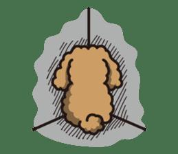 Dog Stamp vol.1 Poodle (Beige) sticker #142907