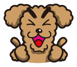 Dog Stamp vol.1 Poodle (Beige) sticker #142910