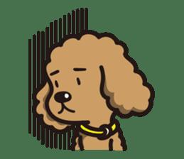 Dog Stamp vol.1 Poodle (Beige) sticker #142911
