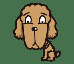 Dog Stamp vol.1 Poodle (Beige) sticker #142912
