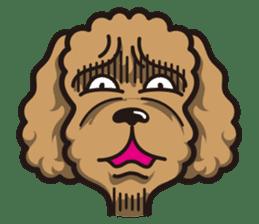 Dog Stamp vol.1 Poodle (Beige) sticker #142914