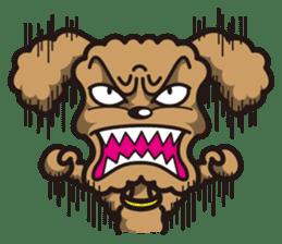 Dog Stamp vol.1 Poodle (Beige) sticker #142915