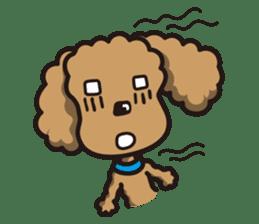 Dog Stamp vol.1 Poodle (Beige) sticker #142916