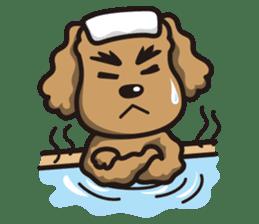 Dog Stamp vol.1 Poodle (Beige) sticker #142917