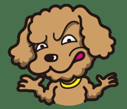 Dog Stamp vol.1 Poodle (Beige) sticker #142921