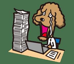 Dog Stamp vol.1 Poodle (Beige) sticker #142922