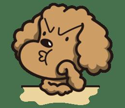 Dog Stamp vol.1 Poodle (Beige) sticker #142925
