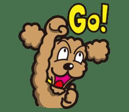 Dog Stamp vol.1 Poodle (Beige) sticker #142927