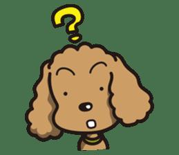 Dog Stamp vol.1 Poodle (Beige) sticker #142930