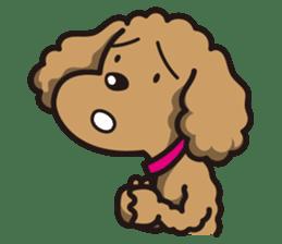 Dog Stamp vol.1 Poodle (Beige) sticker #142931