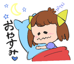 Feelings of a young girl sticker #143336
