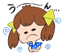 Feelings of a young girl sticker #143343