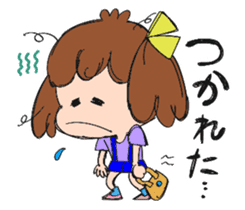 Feelings of a young girl sticker #143348