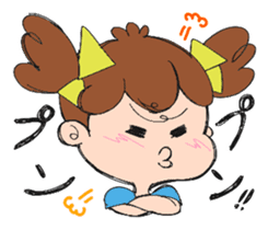 Feelings of a young girl sticker #143364