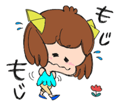 Feelings of a young girl sticker #143367